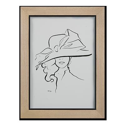 Cowboy Sketch Art Nude